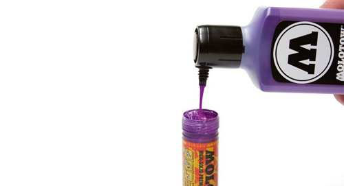 Refilling The Molotow 4-8 mm Acrylic Paint Marker
