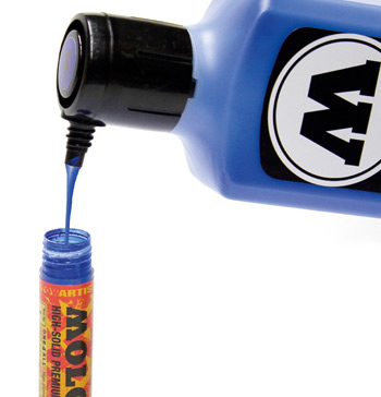 Refilling The Molotow 2mm Acrylic Paint Marker