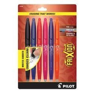 PI031568 Pilot Frixion Ball 6Pk Asst Fine