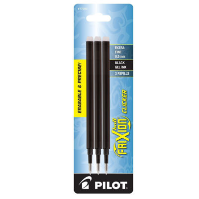 PI0FX5R3BLK Pilot Frixion Refill 3 Pack Extra Fine Point