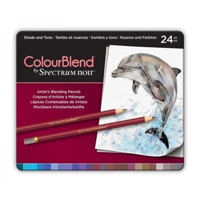 CCSPECCB-SHA24 Spectrum Colourblend Pencils Shade & Tone 24pc