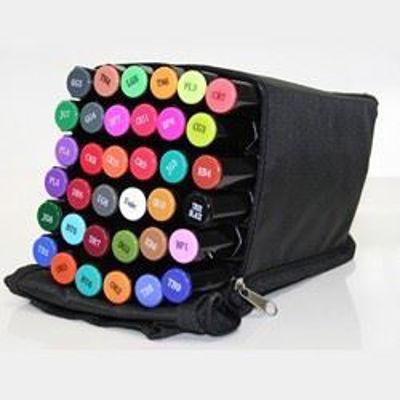 CCSPECN-CASE Spectrum Noir 36 Pen Black Canvas Travel Bag