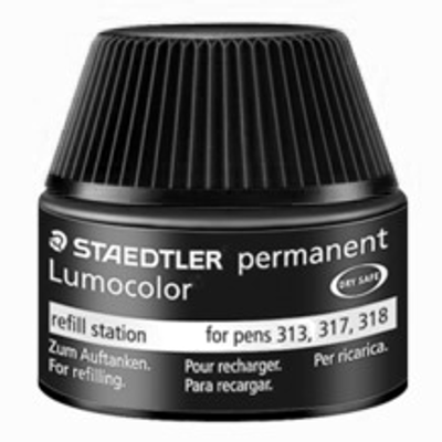 MS48717-9 Staedtler Permanent Lumocolor Permanent Marker Refill Ink for MS313, MS317, MS318