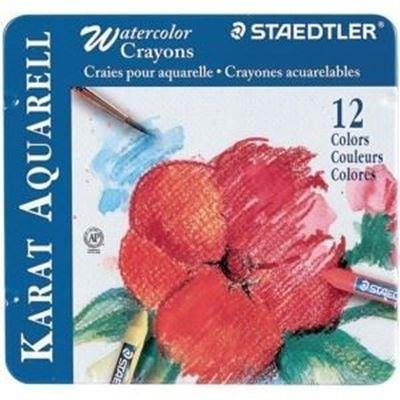 MS223M12 Karat Aquarelle Watercolor Crayons 12 Set