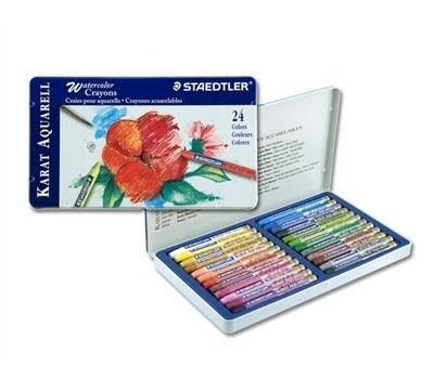 MS223M24 Karat Aquarelle Watercolor Crayons 24 Set