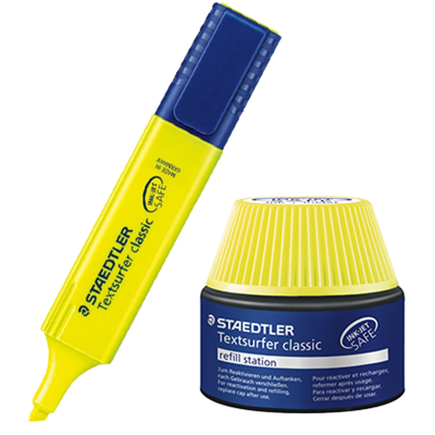 Picture of Staedtler Textsurfer Classic Highlighter And Refill Ink