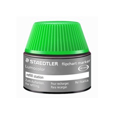 MS48856-5 Staedtler Lumocolor Flipchart Refill Ink Non Perm 356 Series 30ml- Green