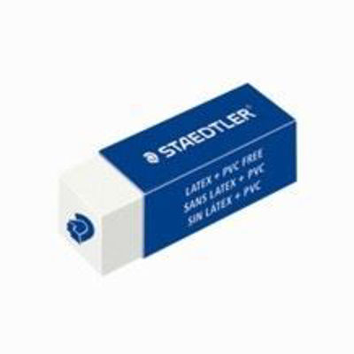 MS525C20-03 Staedtler Extruded Eraser Stick White
