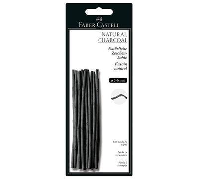 FC129198 Faber-Castell PITT Natural Willow Charcoal Sticks 3-6mm - 20ct. Sticks