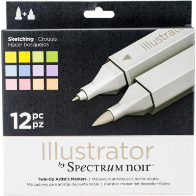 Spectrum Noir Illustrator 12 PC Sketching