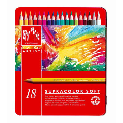 CR3888.318 Caran D'Ache Artist Supracolor Pencils , Ass. 18 Pcs