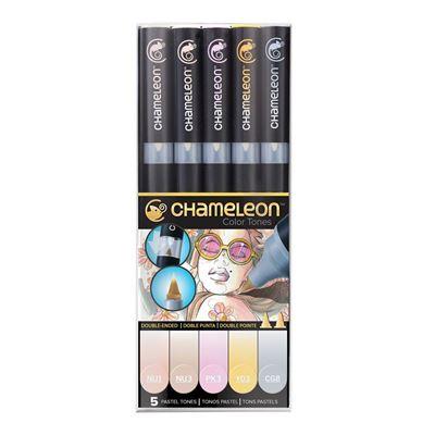CLCT0501 Chameleon 5-Pen Pastel Tones Set