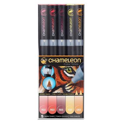 CLCT0511 Chameleon 5-Pen Warm Tones Set