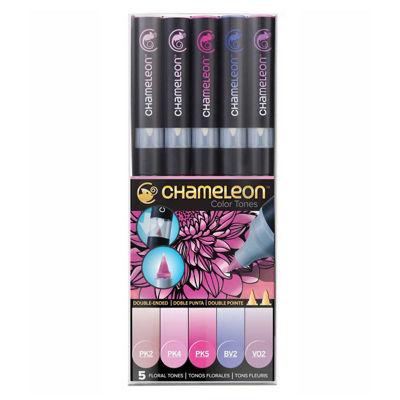 CLCT0512 Chameleon 5-Pen Floral Tones Set