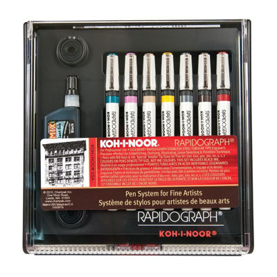 Koh-I-Noor Rapidograph 7 Pen Set