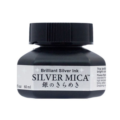 Zig Brilliant Gold Ink Silver Mica (60ml)