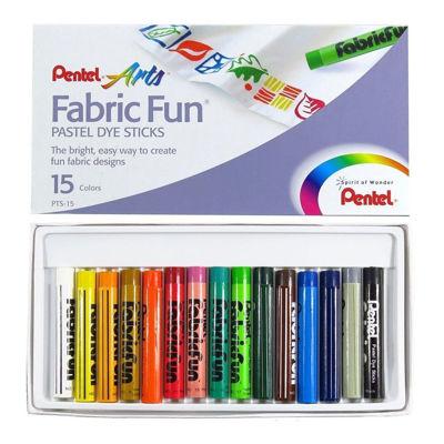 Pentel Arts Fabric Fun Pastel Dye Sticks - 15 Color Set