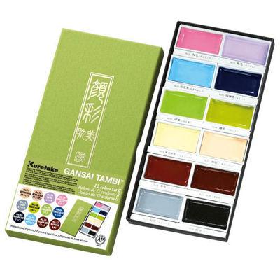 Zig Kuretake Gansai Tambi 12 Colors Set ll (New)