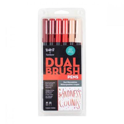 TB56219 Tombow Abt Dual Brush Pen 6 Set - Red Blendables