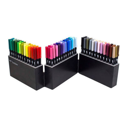Picture of Tombow Abt Dual Brush Pen 108 Set with Free Case